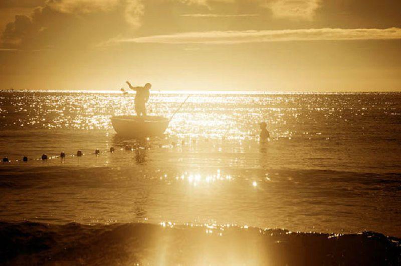 Biển Hải Tiến chiều hoàng hôn