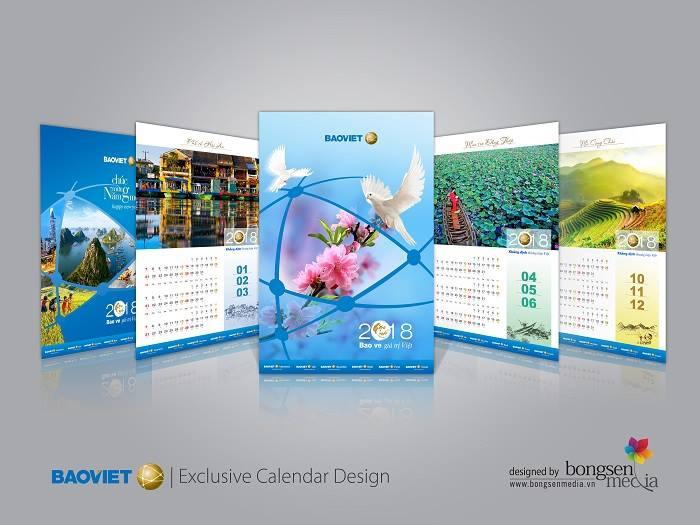 Cuốn lịch Tết có thể truyền tải thông điệp tốt lành đến người nhận quảng bá hình ảnh công ty.